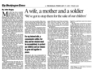 A wife, a mother and a soldier